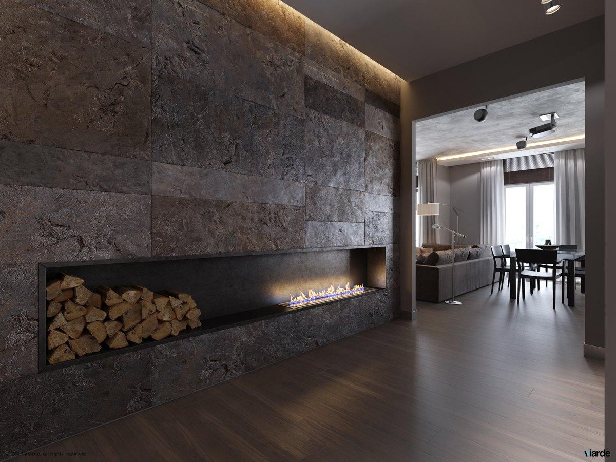 17 ultramodern fireplace  Interior Design Ideas