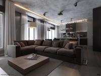 3 plush grey sofa | Interior Design Ideas.