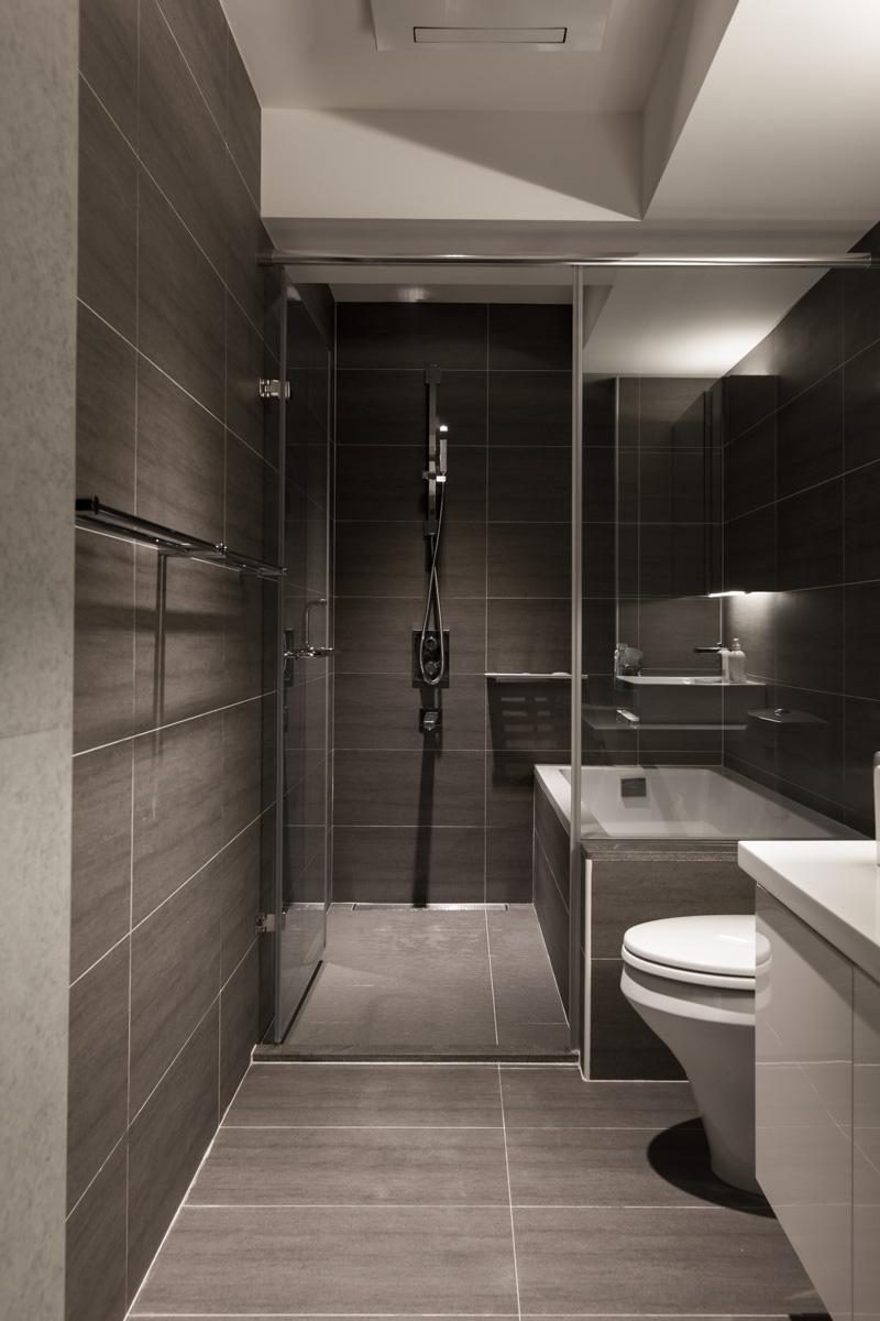 gray slate bathroom   Interior Design Ideas.
