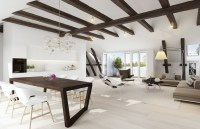 exposed ceiling beams | Interior Design Ideas.