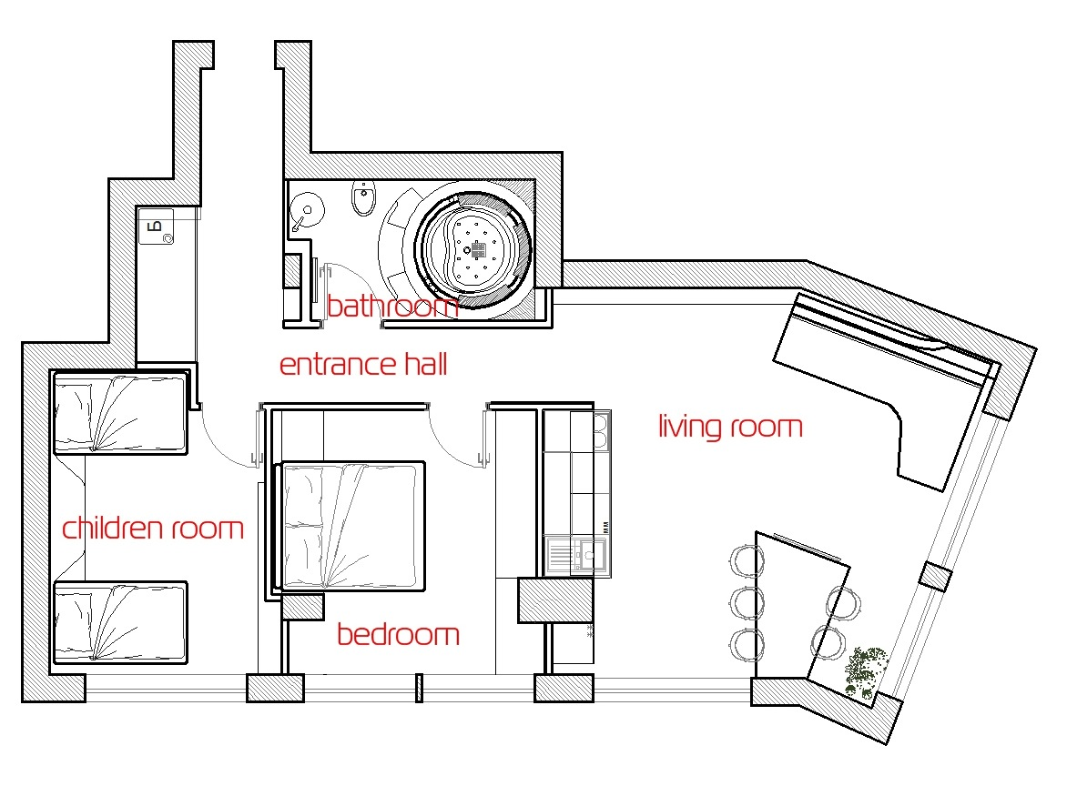 Futuristic Floor Plan