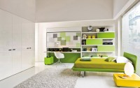 lime green kids room | Interior Design Ideas.