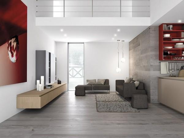 low modern sofa