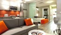 orange backsplash | Interior Design Ideas.