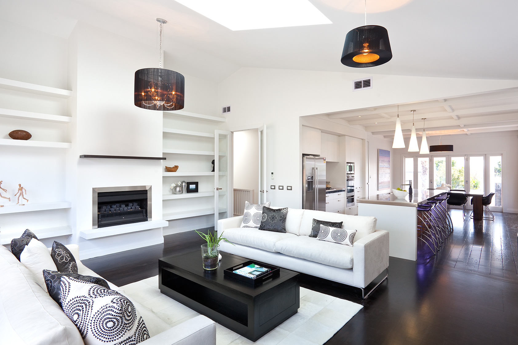 10 Monochrome lounge  Interior Design Ideas