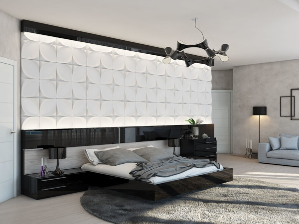 statement headboard wall   interior design ideas.