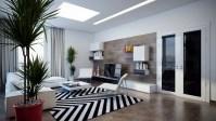 Black white chevron rug | Interior Design Ideas.