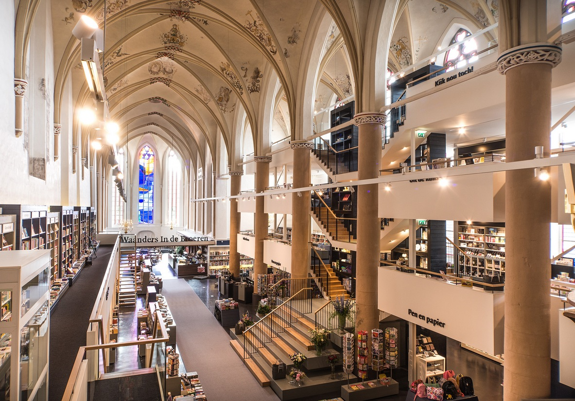 15th Century Church Converted To Book Shop