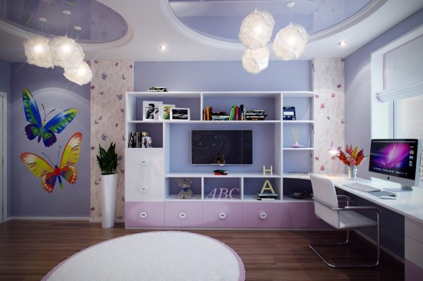 Purple girls bedroom