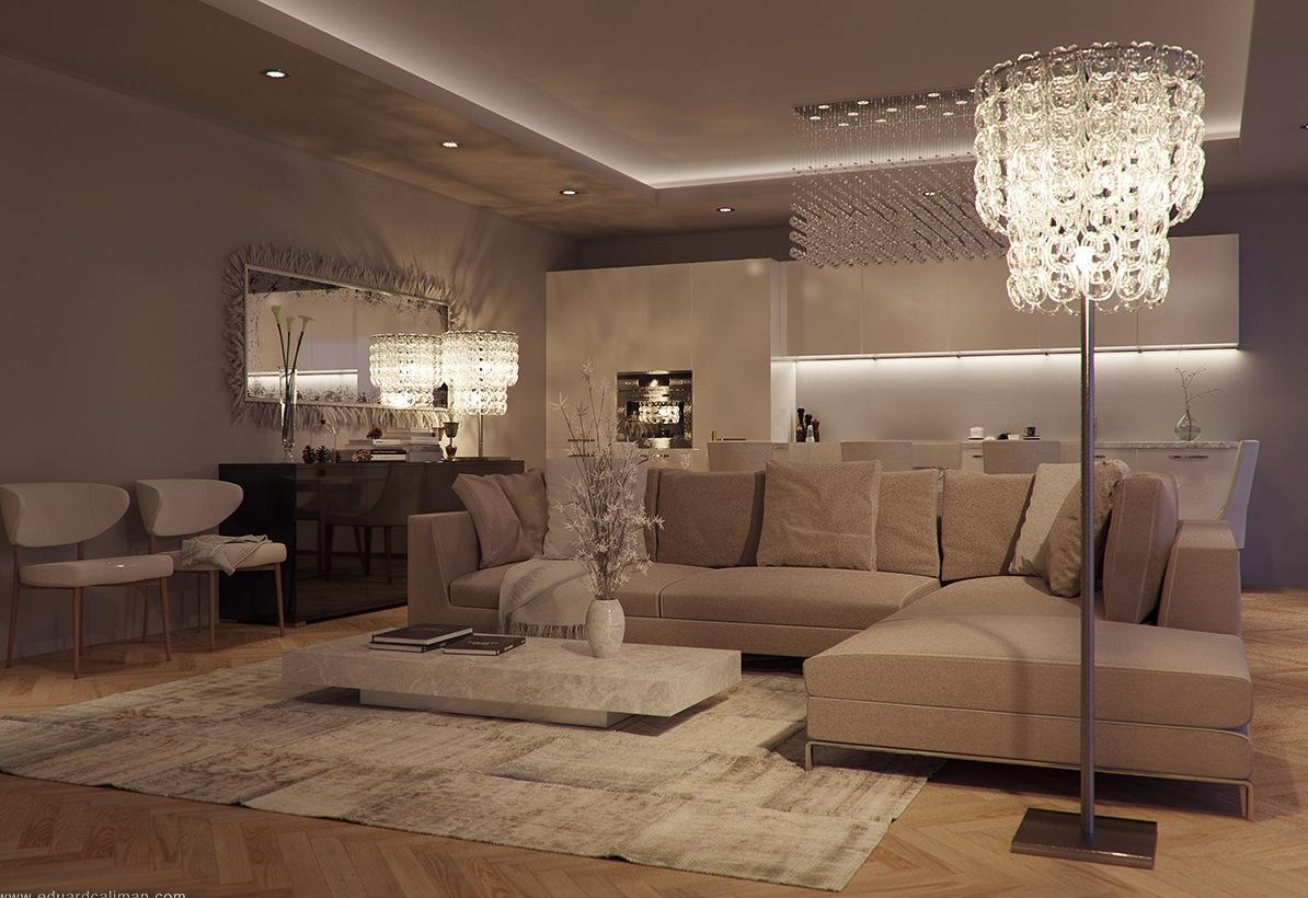 Crystal Standing Lamp Interior Design Ideas