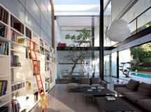 Bauhaus Style Home with Interior Glass Walls images 22