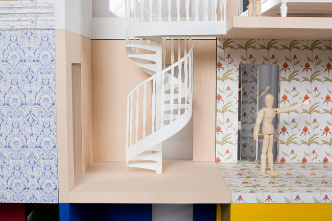 Spiral Dollhouse Staircase Interior Design Ideas