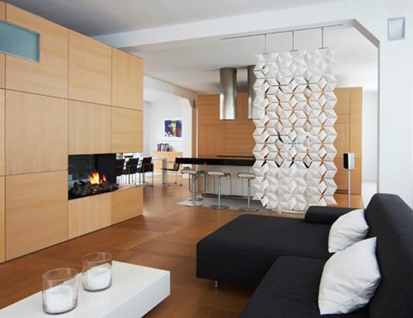 white contemporary room divider   Interior Design Ideas.