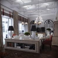 white wood ceiling beams | Interior Design Ideas.