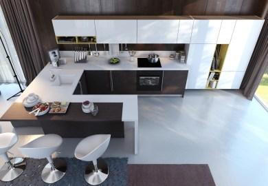 Oval Kitchen Island Design