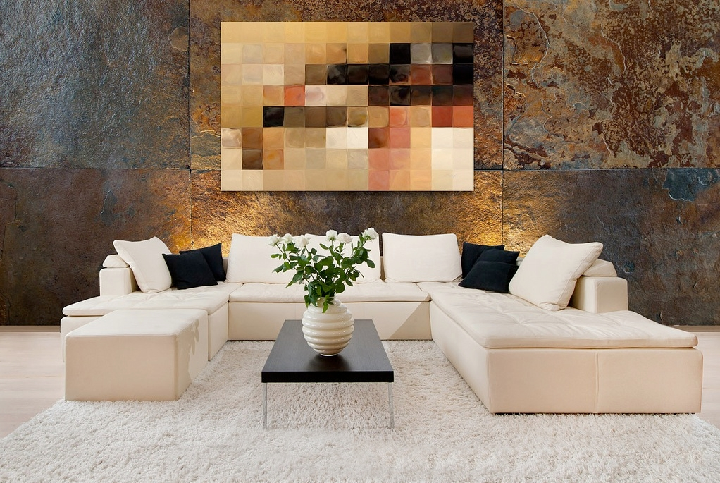 White sectional sofa  Interior Design Ideas