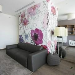 Apartment Living Room Designs Tables For Rooms Floral Wallpaper | Interior Design Ideas.