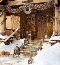 Rustic Christmas decoration | Interior Design Ideas.