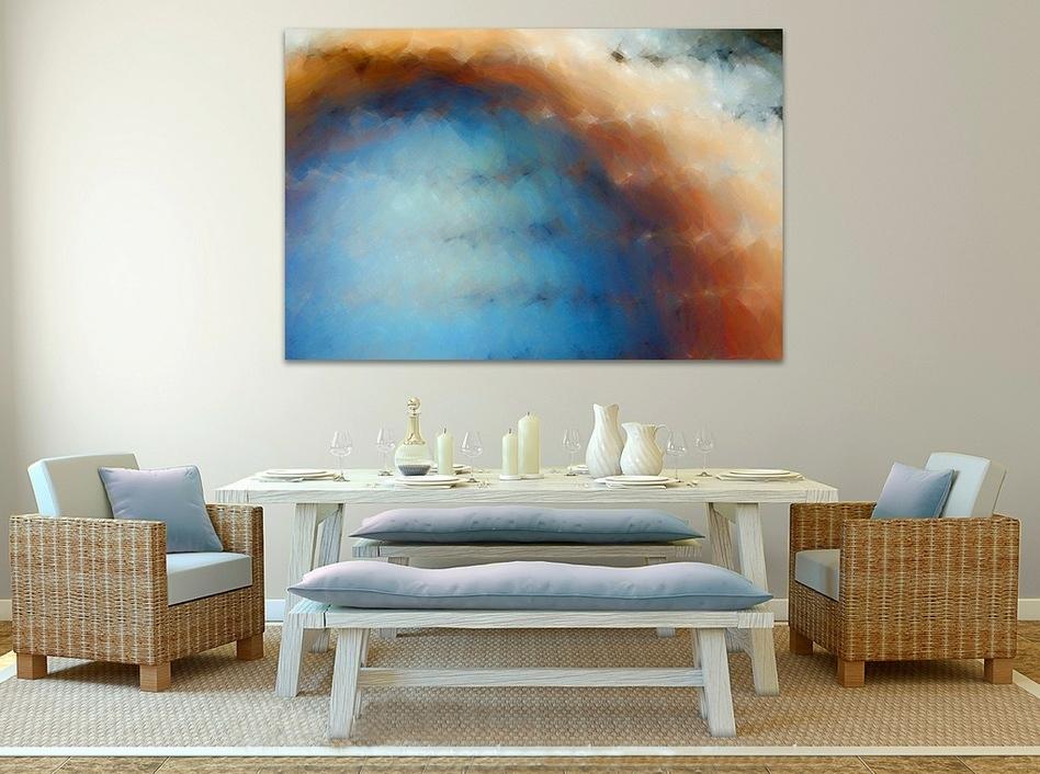 Blue cream dining room  Interior Design Ideas