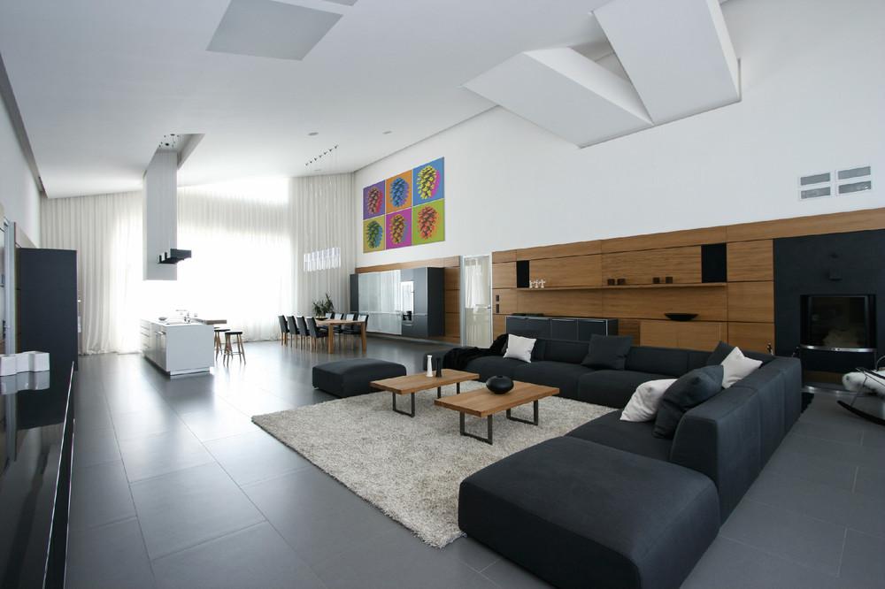 Black L Shaped Sofa Interior Design Ideas