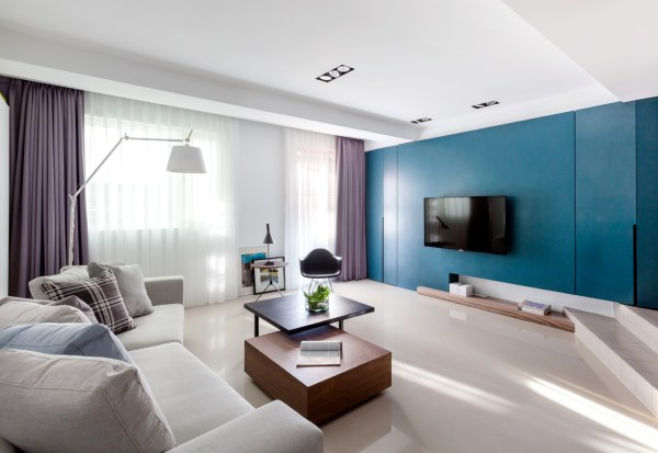 blue and purple living room Vibrant Blue and Purple Apartment Decor