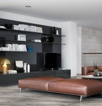 Leather living room bench | Interior Design Ideas.