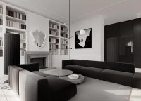 Monochrome living room decor | Interior Design Ideas.