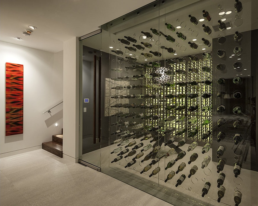 Amazing Wine Racks Contemporary Architecture And Interiors On Sunset Strip