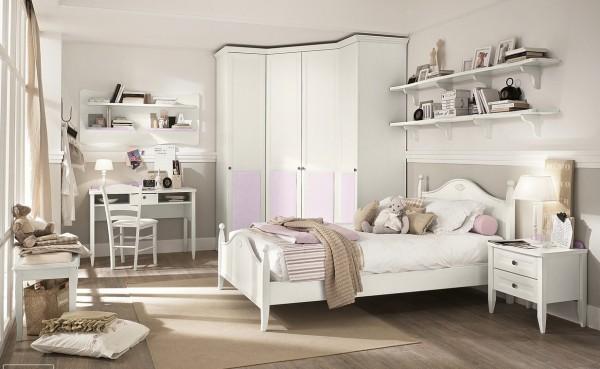 Pink white bedroom decor