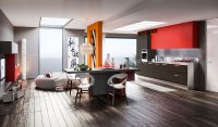 Red wenge kitchen | Interior Design Ideas.
