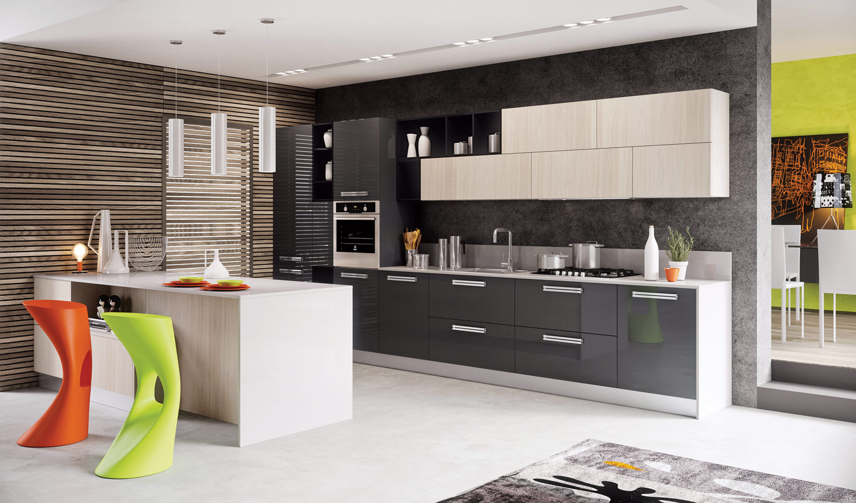 contemporary kitchen design black table and chairs designs that pop