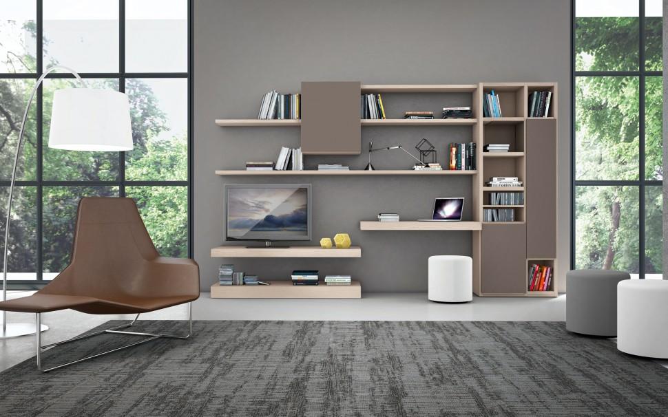 Living Room Bookshelves 14  Interior Design Ideas