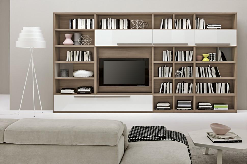 Living Room Bookshelves 46  Interior Design Ideas
