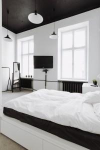 Black bedroom ceiling | Interior Design Ideas.