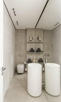 Taupe bathroom | Interior Design Ideas.