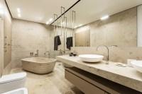 Taupe bathroom decor | Interior Design Ideas.