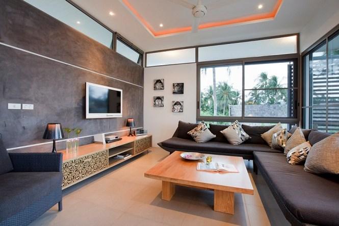 Thai Style Wooden Retro Living Room