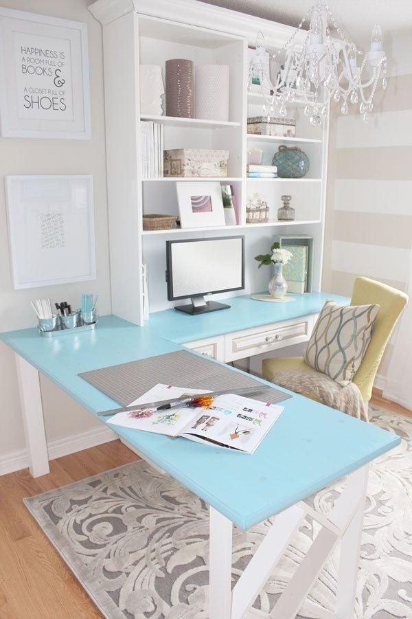 1 DIY desk traditional white unit
