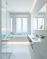 Modern white bathroom | Interior Design Ideas.