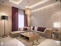Cream burgundy living room | Interior Design Ideas.