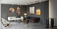 Living room wall paneling   Interior Design Ideas.