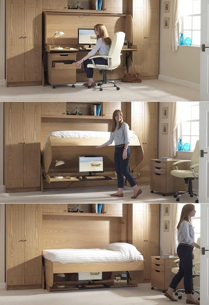 Fold away study bed  Interior Design Ideas