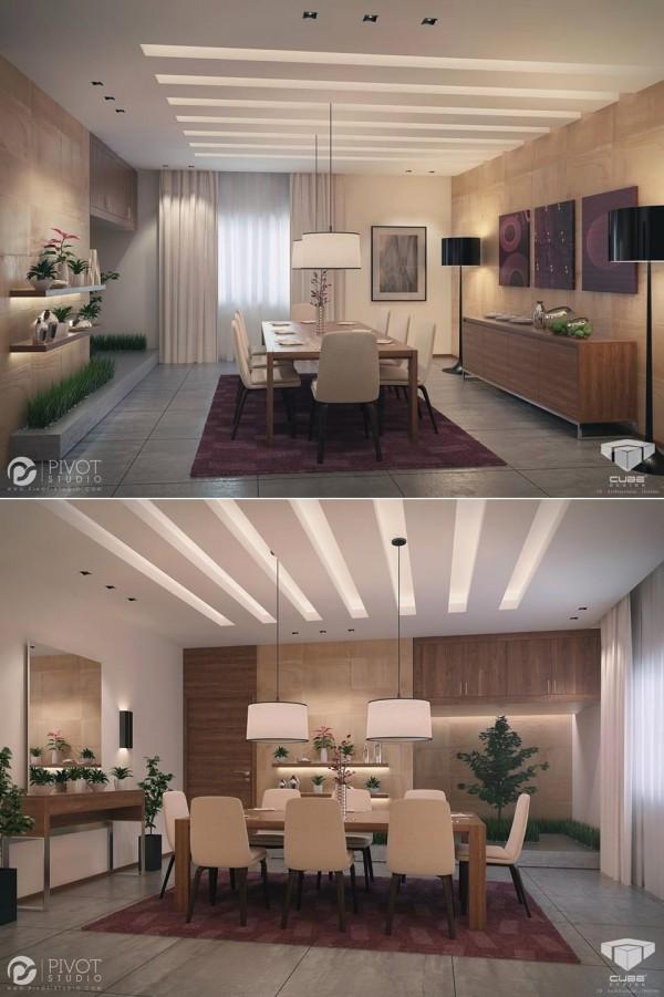 Purple Cream Dining Room Decor Interior Design Ideas