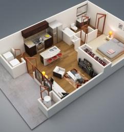 wiring diagram 1 bedroom apartment [ 1240 x 930 Pixel ]