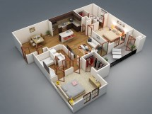 Apartment 2 Bedroom House Plans