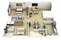 Two Bedroom Studio Apartment Layout Ideas | Joy Studio ...