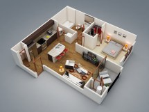 Modern One Bedroom House Plans