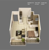 1 Bedroom Apartment/House Plans | smiuchin