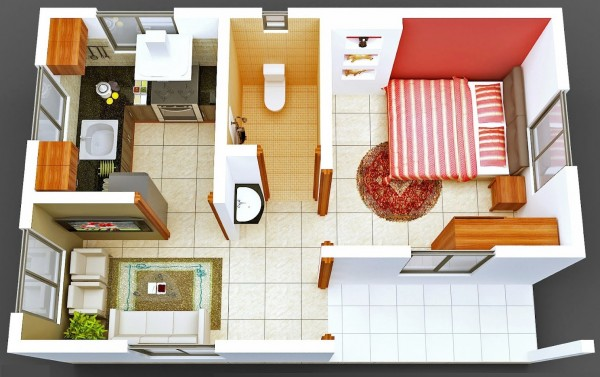 A tiny house can be fun and functional, as seen in this design above.