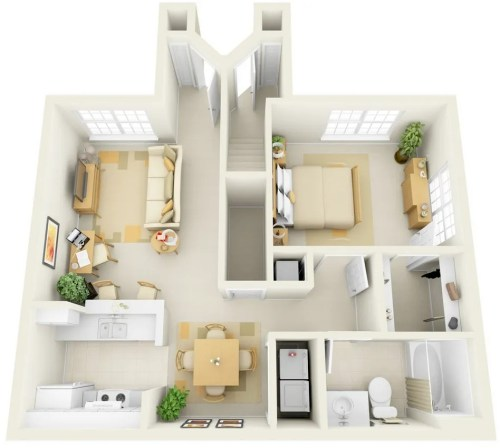 small resolution of this one bedroom suite may look compact but it offers enough space for a work